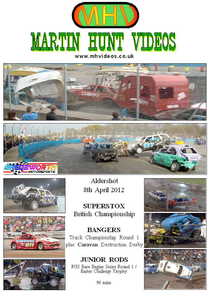 Aldershot 8th April 2012 Caravan Racing and Superstox British