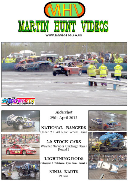 Aldershot 29th April 2012 Rear Wheel Drive National Bangers