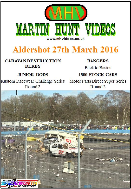 Aldershot 27th March 2016 Caravan Destruction Derby