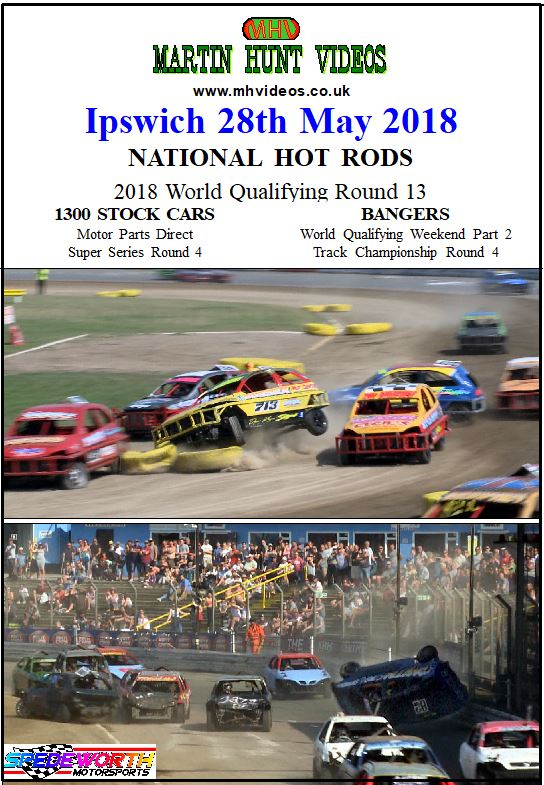 Ipswich 28th May 2018 National Hot Rods 1300 Stock Cars