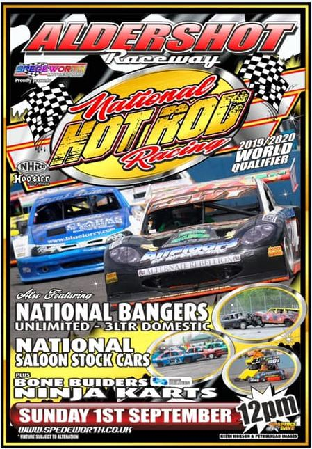 Aldershot 1st September 2019 Nat Rods & Unlimited Nat Bangers