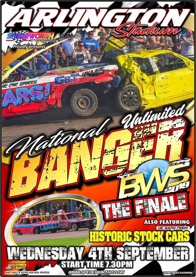Eastbourne 4th September 2019 Banger World Series Finale