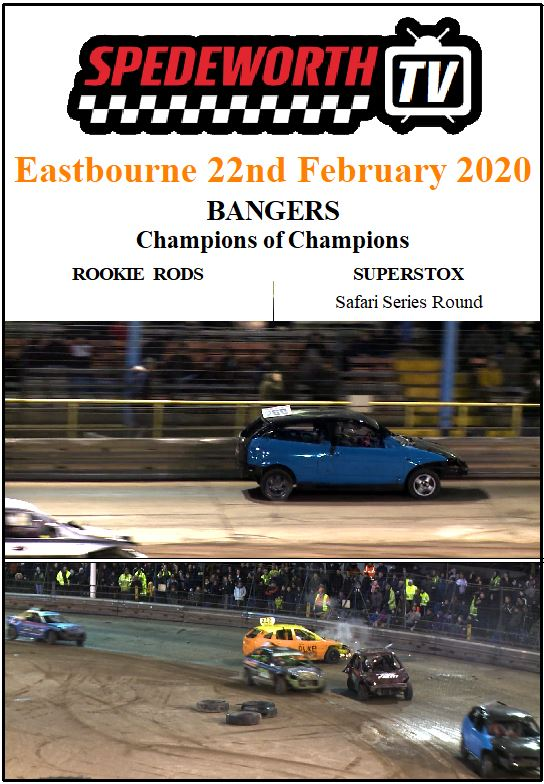 Eastbourne 22nd February 2020 Bangers Champion of Champions