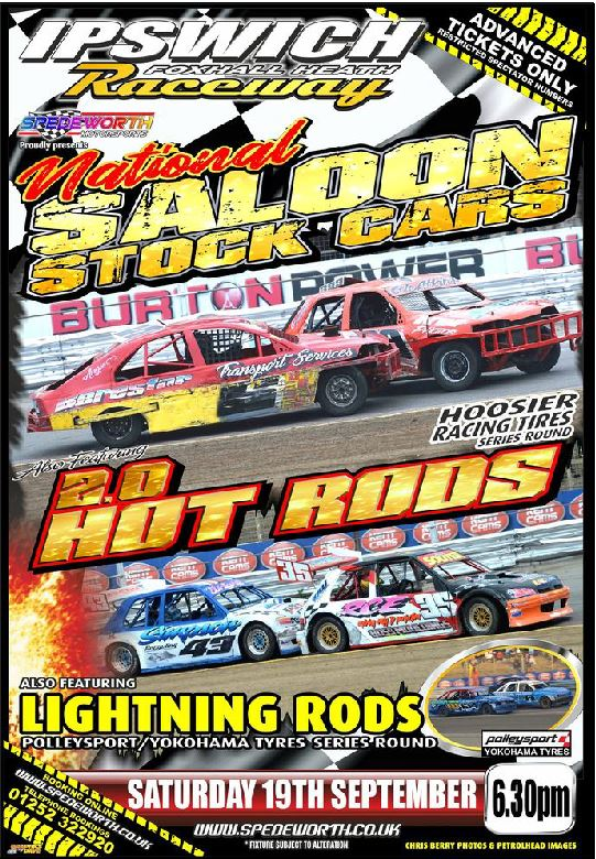 Ipswich 19th September 2020 National Saloon Stock Cars